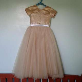 Girls Gold Entourage Gown