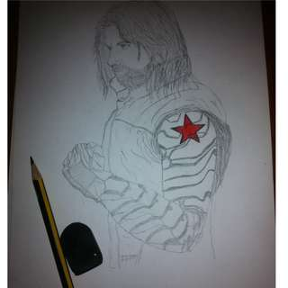 Bucky Barnes Home Drawing Pic