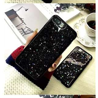 Luxury iPhone 6/6s black starry night case star sparkling