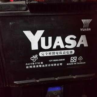 Yuasa 80Ah 電瓶 賓士