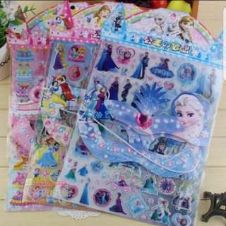 3D Bubble Cartoon Stickers with Party Mask