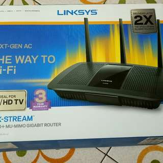 linksys router in new and unuse condition