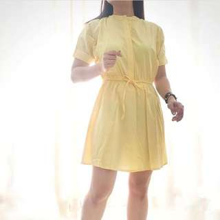 Yellow pastel dress