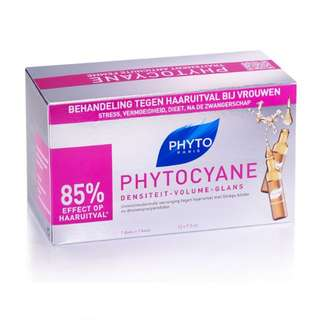 Phyto Phytocyane Revitalizing Thinning Hair Serum 12 x 7.5ml Ampoules in a Box