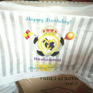 $6.90 Real Madrid Soccer Birthday Party Table Cover Disposable