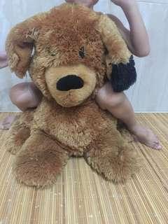 Boneka anjing jumbo coklat hitam