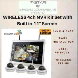 Wireless ip camera - CCTV - NVR (4 Channel Plug & Play Kit Set) - Cctv installation - Cctv Dvr recorder