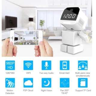 CCTV - Wireless IP Camera (With Build in Digital Clock) - Wifi Cctv Camera - 360 IP Camera
