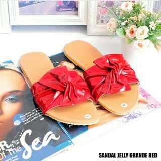 sandal jelly grande red