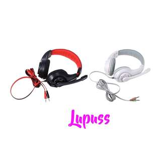 💯 Lupuss G1 Gaming Headsets Earphones Headphones with Mic Stereo Bass PC Games