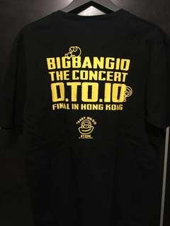 Bigbang 10 週年 concert Crew Tee