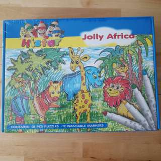 3D Animal puzzle/ Jolly Africa coloring
