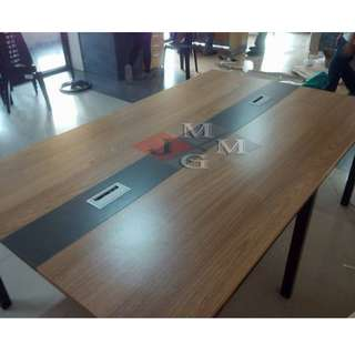 Ready Made Conference Table Steel Legs Laminated Top