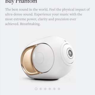 Devialet gold phantom speaker hifi