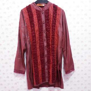 Baju muslim motif bunga hidup