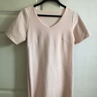 BABY PINK SHIFT DRESS