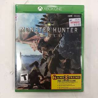XBOX ONE PREOWNED MONSTER HUNTER