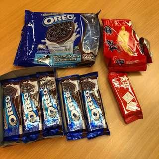 免費 Free* Oreo 5 packs + 太平 1包