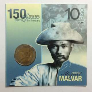 Miguel Malvar 150th Birth Anniversary 10 Piso Commemorative Coin 2015