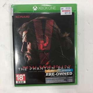 XBOX ONE PREOWNED METAL GEAR SOLID V