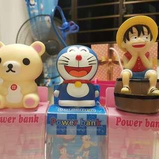 Doraemon/Rilakkuma/Luffy Powerbank