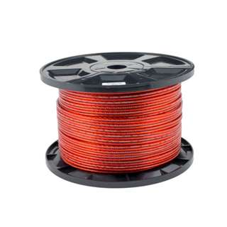 Transparent Speaker Cable Red 100M/15AWG