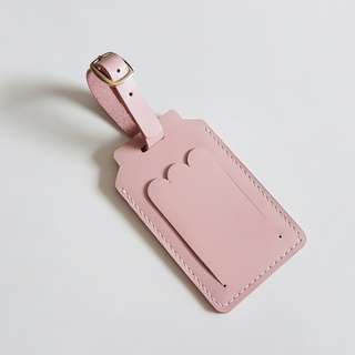 Pink leather luggage tag_Strawberry Milky box