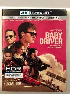 Baby Driver 4K Ultra Hd Blu ray disc