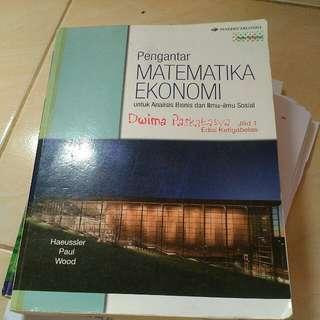 Pengantar Matematika Ekonomi