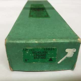 """Nicholson 6"""" 3-Square Bastard File 15925"""