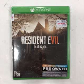 XBOX ONE PREOWNED RESIDENT EVIL