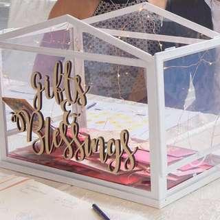 Glass Wedding Angbao Box