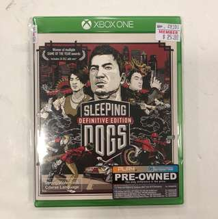 XBOX ONE PREOWNED SLEEPING DOGS