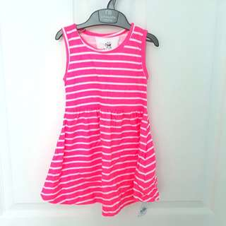2-3yo BNWT Primark Hot Pink Striped Dress