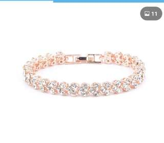 Rose Gold Heart Crystal Bracelet