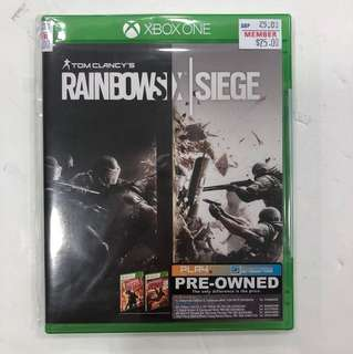 XBOX ONE PREOWNED TOM CLANCY'S RAINBOW SIEGE