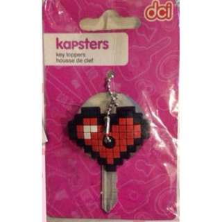 Kapster Heart Shaped Key Topper Minecraft Like
