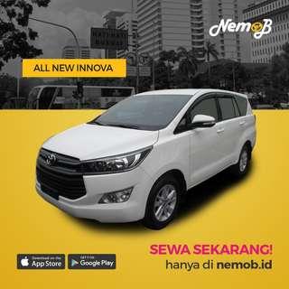Sewa mobil Innova murah dan berkualitas di Jakarta, hanya 550 ribu dengan driver. Hubungi Nemob.