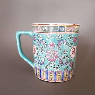 tea cup blue