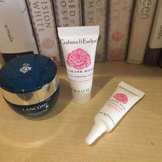 Authentic Crabtree Damask Rose Facial Travel Set