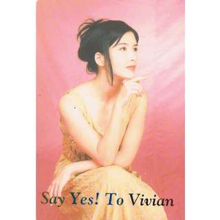 2748-YC ,YES CARD, Vivian Chow under the golden words - SAY YES!TO VIVIAN, the back of the song -心軟 - the original price of 60% off