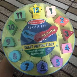 Melissa & Doug Classic Toy Shape Sorting Clock