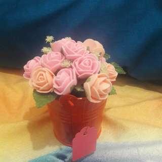 Hiasan bunga dan pot