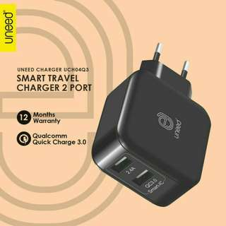 Uneed Dual USB Wall Charger with Qualcomm Quick Charge 3.0