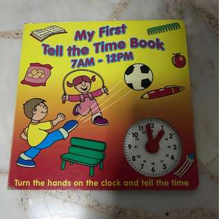 My first tell the time book with clock