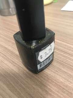 BYS black gold glitter nail polish 14ml