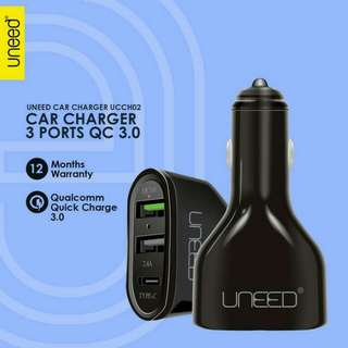 Uneed Qualcomm Quick Charge 3.0 Car Charger with USB Type C