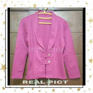 ( NEW PRODUCT ) Blazer Twin Front Button Magenta