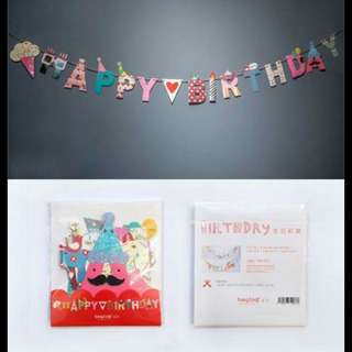 [FREE POSTAGE!] Cute Happy Birthday Party Flags / Bunting / Banner / Garland