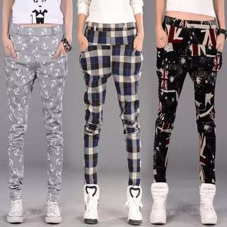 Ladies Printed Pants S-3XL